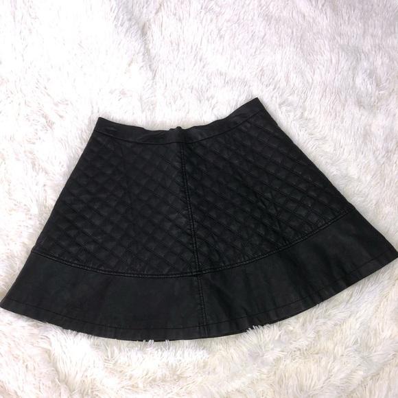 TCEC Dresses & Skirts - SALE - Black Vegan leather Moto mini skirt SZ L